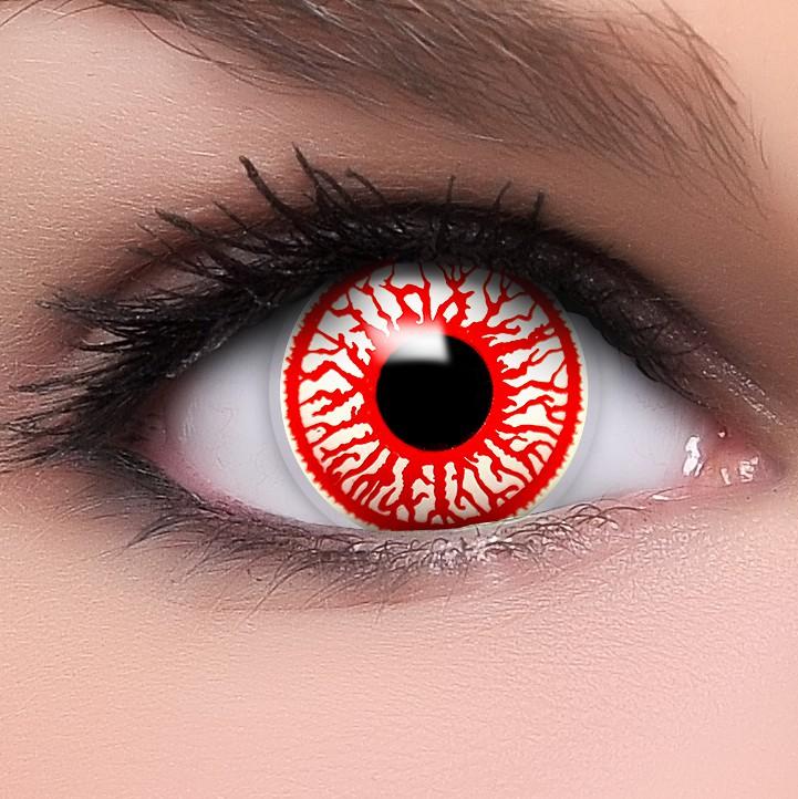 rote bloodshot kontaktlinsen halloween karneval fun crazy. Black Bedroom Furniture Sets. Home Design Ideas