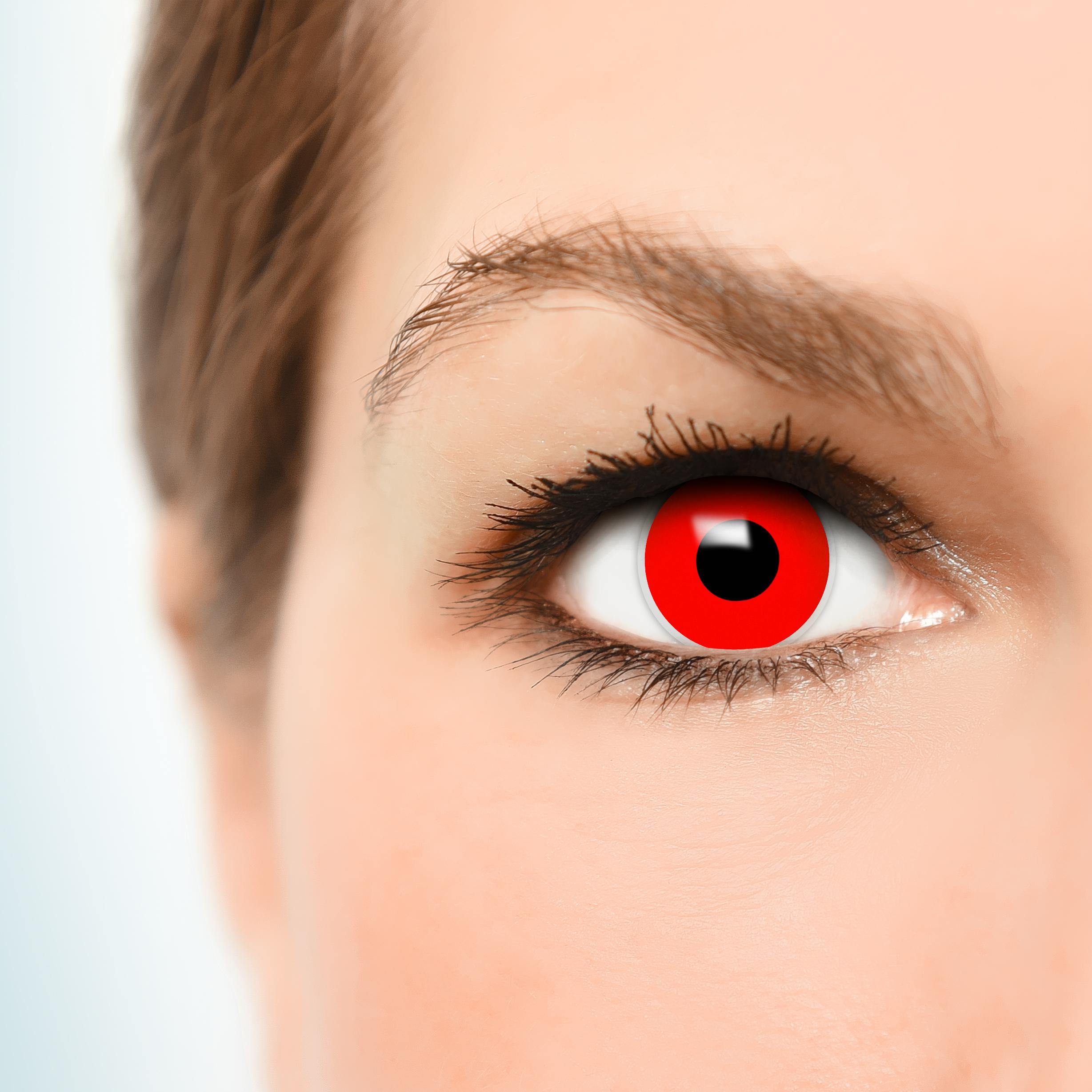 rote kontaktlinsen teufel halloween karneval fun crazy bunte. Black Bedroom Furniture Sets. Home Design Ideas