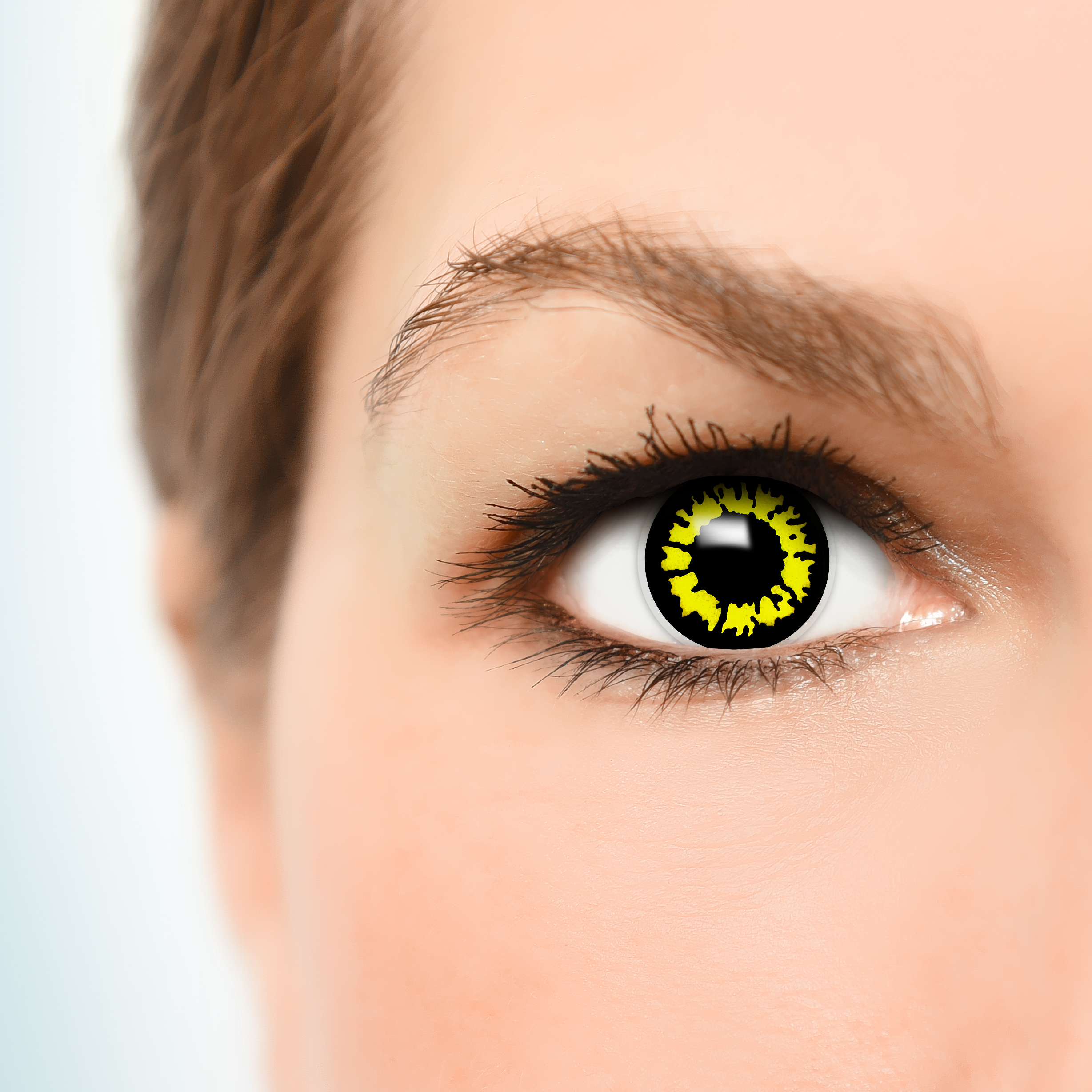 yellow wolf kontaktlinsen halloween karneval fun crazy bunte. Black Bedroom Furniture Sets. Home Design Ideas