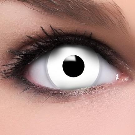 farbige kontaktlinse mit st rke white zombie halloween fun. Black Bedroom Furniture Sets. Home Design Ideas