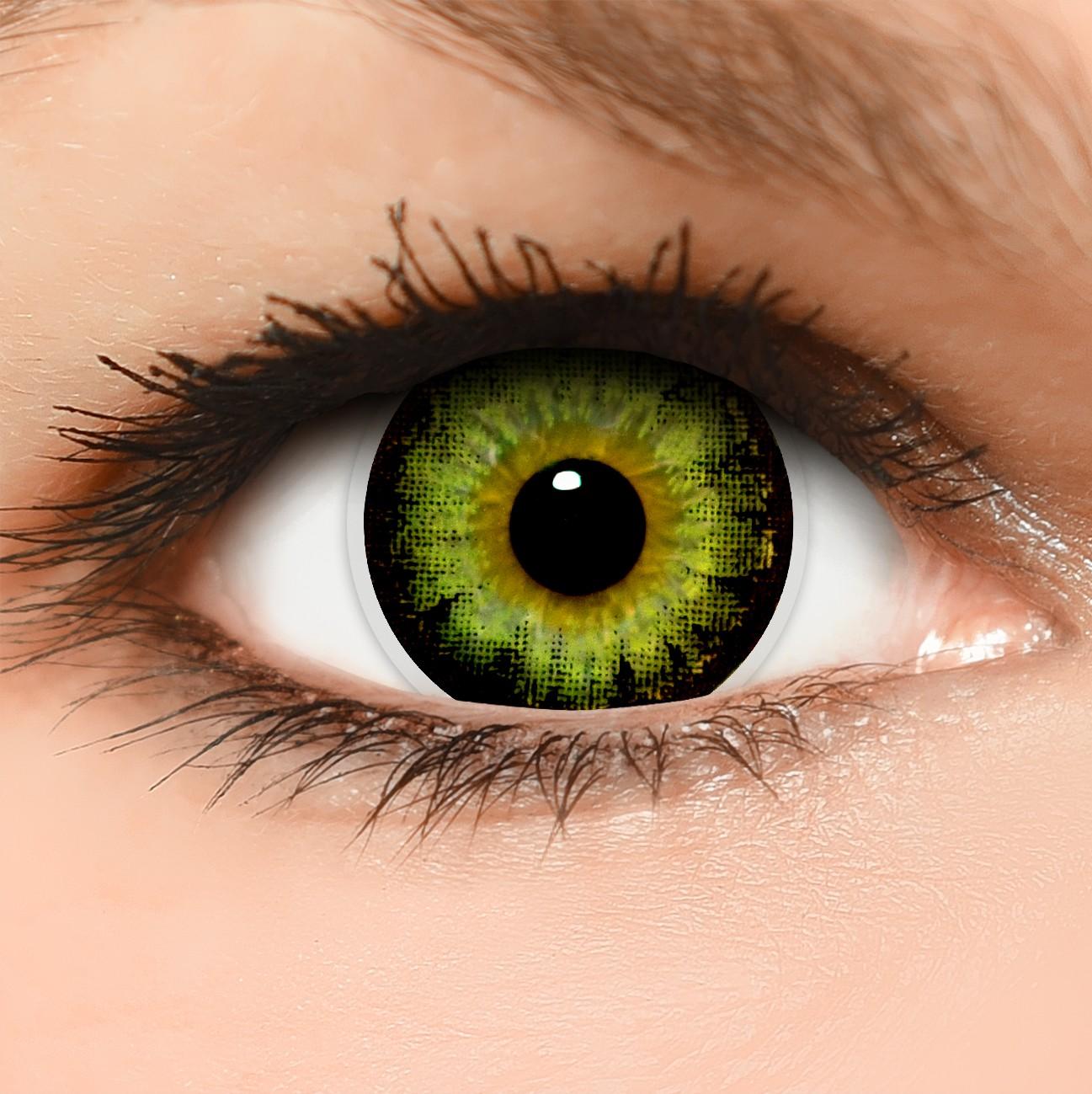 gr ne circle lenses green kontaktlinsen ohne und mit st rke. Black Bedroom Furniture Sets. Home Design Ideas