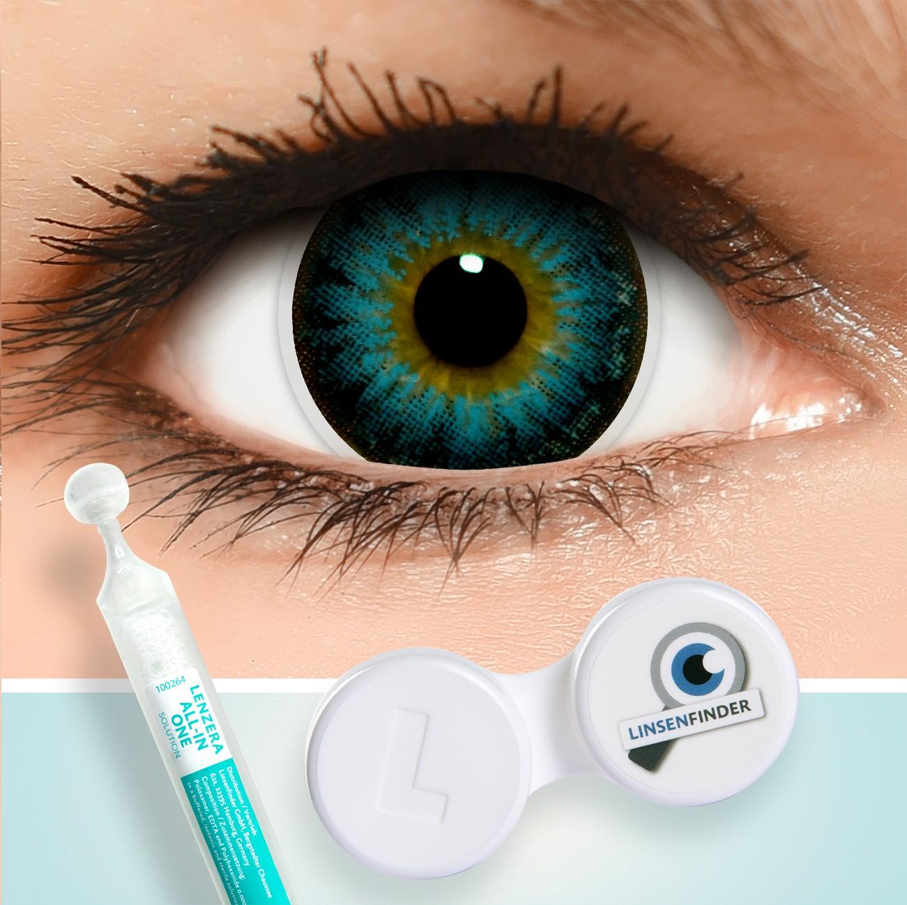 blaue circle lenses blue kontaktlinsen ohne und mit st rke. Black Bedroom Furniture Sets. Home Design Ideas